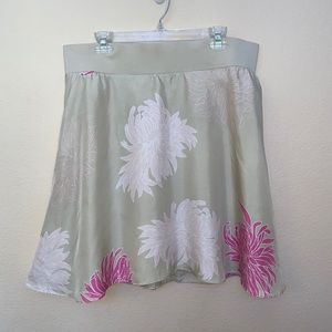 ✅ Liz Lange Maternity Target Tan Pink Floral Skirt